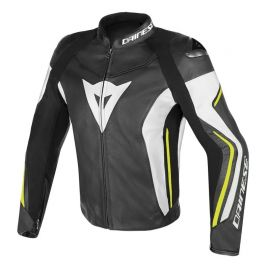 Bunda Dainese ASSEN Black/White/Yellow-Fluo