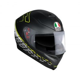 AGV K-5 TOP PLK THORN 46 BLK/WHT/YELL