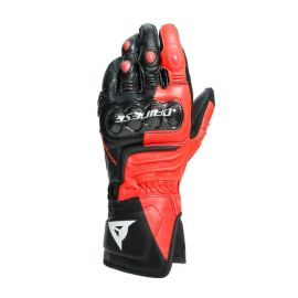 Rukavice Dainese CARBON 3 Long Black/Fluo Red/White
