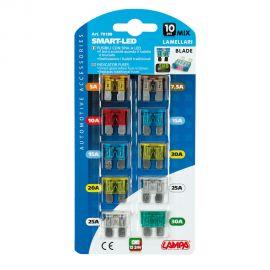Sada LED indikátorových zásuvnych poistiek 12/32V